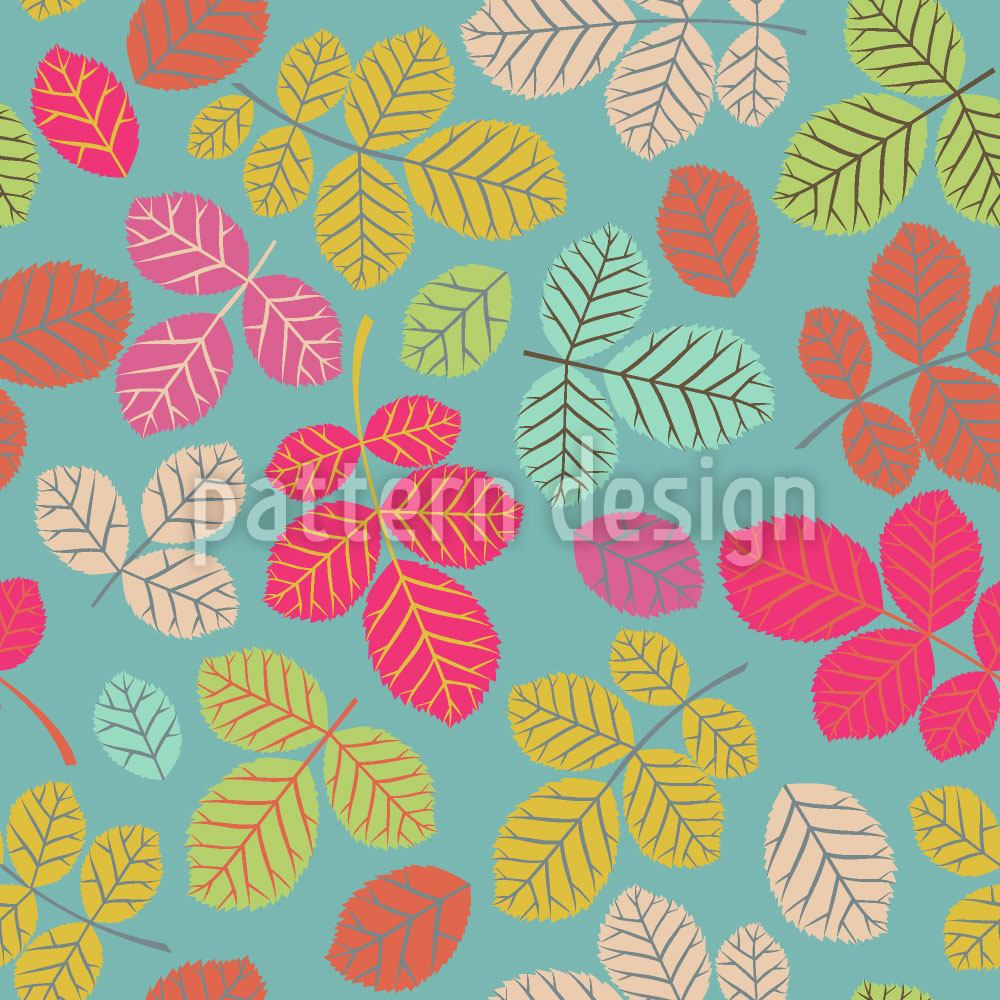 Design Wallpaper Beech Leaves