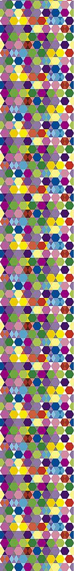 Papier peint design Erratic Hexagon