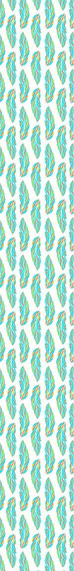 Papier peint design Feather Leaves