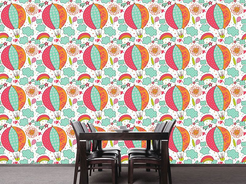 Design Wallpaper Bunny Balloon Ride
