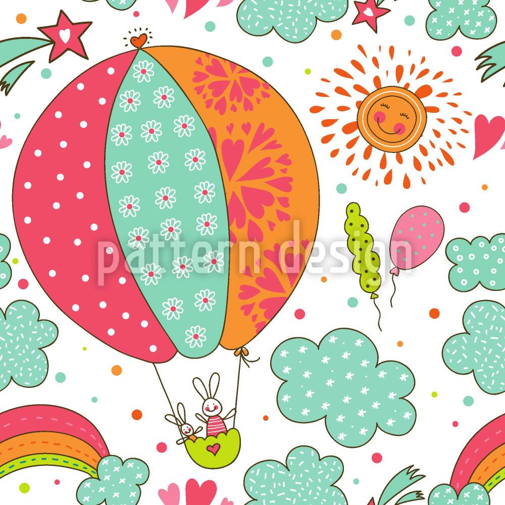 Papier peint design Bunny Balloon Ride