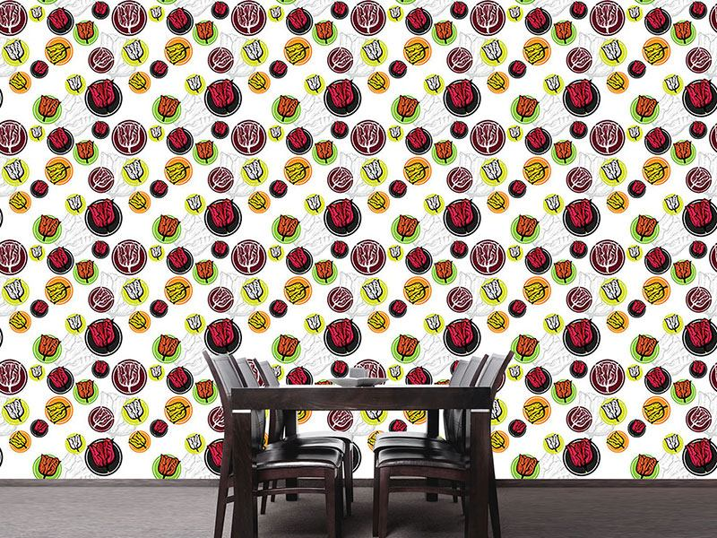 Design Wallpaper Tulip Stickers