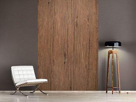 Photo Wallpaper Teak Wood